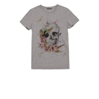 ALEXANDER MCQUEEN, T-Shirt &amp; Tank, Hummingbird &amp; Dragonfly Skull T-Shirt