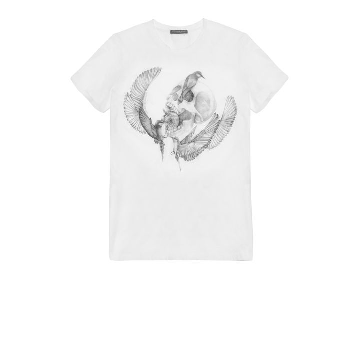 Alexander McQueen, Dragonfly & Apple Skull Print T-Shirt