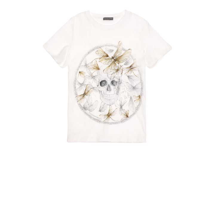 Alexander McQueen, Dragonfly Circle Print Skull Boxy T-Shirt