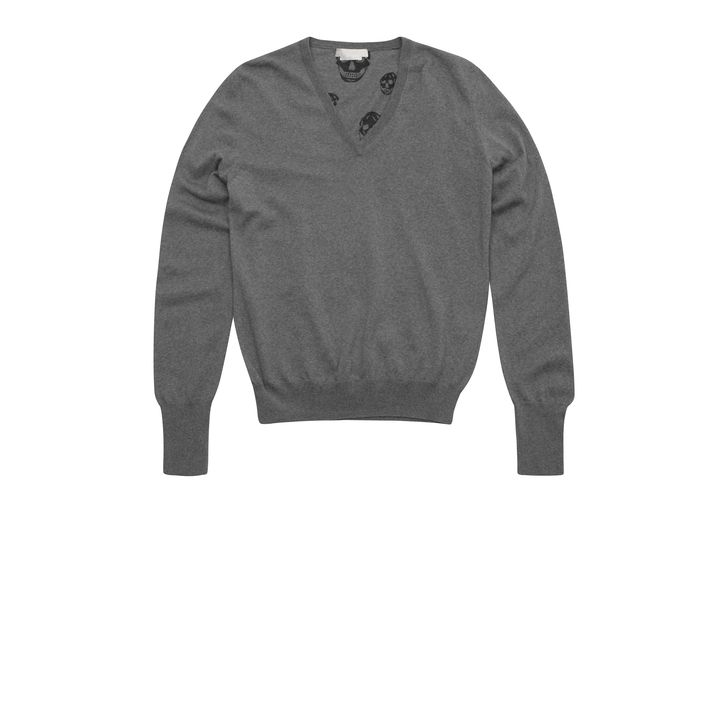 Alexander McQueen, Merino Wool V-Neck Jumper