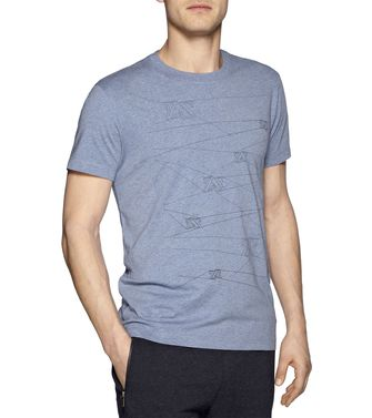 ZEGNA SPORT: T-shirt Blue - 37475105WC