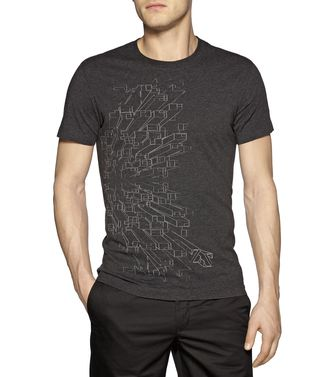 ZEGNA SPORT: T-shirt Blue - Brown - Purple - 37475106QB