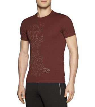 ZEGNA SPORT: T-shirt Blue - Brown - Purple - 37475106UD