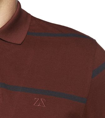 ZEGNA SPORT: Short-sleeved Polo Maroon - Blue - 37475117AT