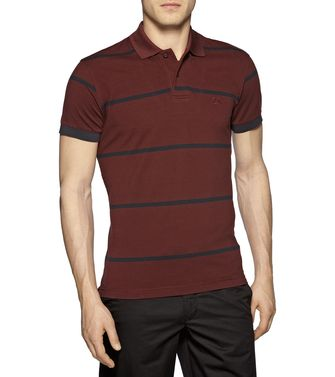 ZEGNA SPORT: Polo Manica Corta Bordeaux - Blu - 37475117AT