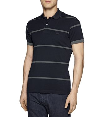 ZEGNA SPORT: Short-sleeved Polo Maroon - Blue - 37475117KK