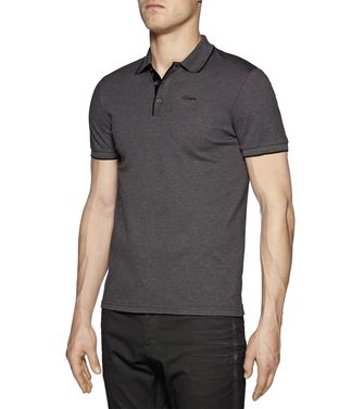 ZZEGNA: Short-sleeved Polo Steel grey - 37475119CO