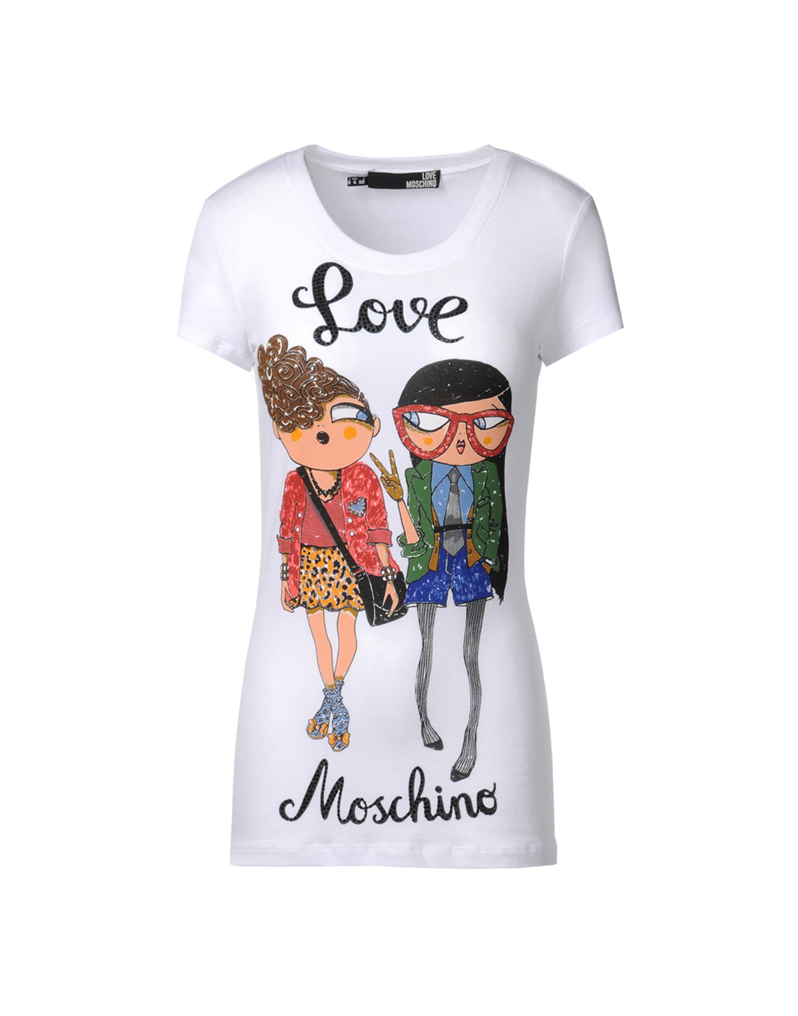 short sleeve t shirts women moschino online store. Black Bedroom Furniture Sets. Home Design Ideas