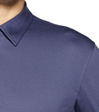 ZEGNA SPORT: Short-sleeved Polo Slate blue - 37475862KO