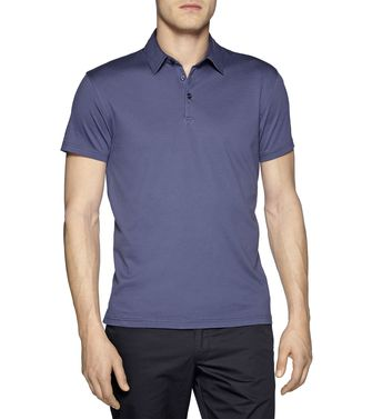 ZEGNA SPORT: Short-sleeved Polo Maroon - Blue - 37475862KO