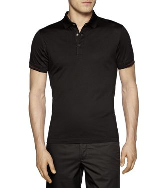 ZEGNA SPORT: Short-sleeved Polo Slate blue - 37475877OD