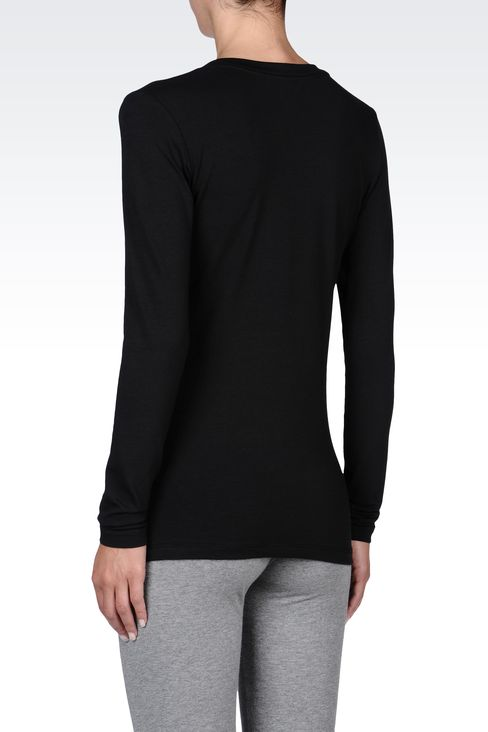 T-shirts and sweatshirts: Long sleeved t-shirts Women by Armani - 3