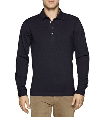 ZEGNA SPORT: Long-sleeved Polo Maroon - Blue - 37478964KU