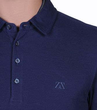 ZEGNA SPORT: Long-sleeved Polo Blue - Brown - Purple - 37478964UR
