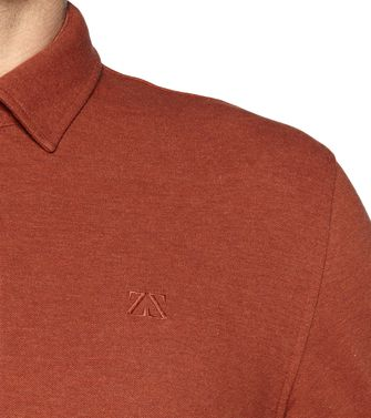 ZEGNA SPORT: Long-sleeved Polo Blue - 37478964VC