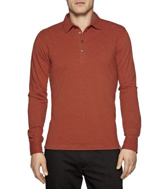 ZEGNA SPORT: Long-sleeved Polo Maroon - Blue - 37478964VC
