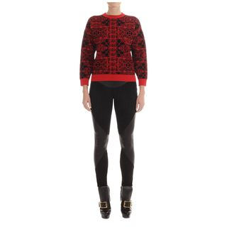 ALEXANDER MCQUEEN, Knitwear, Stained Glass Boxy Sweater