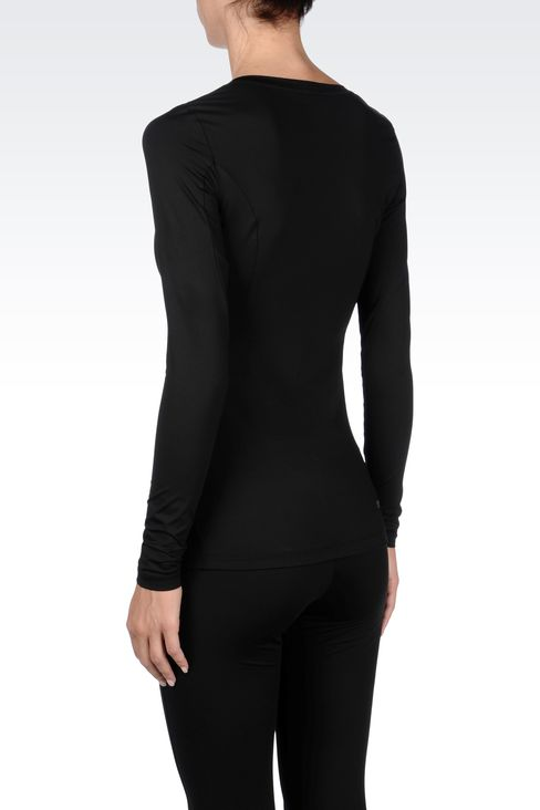 T-shirts and sweatshirts: Long sleeved t-shirts Women by Armani - 3