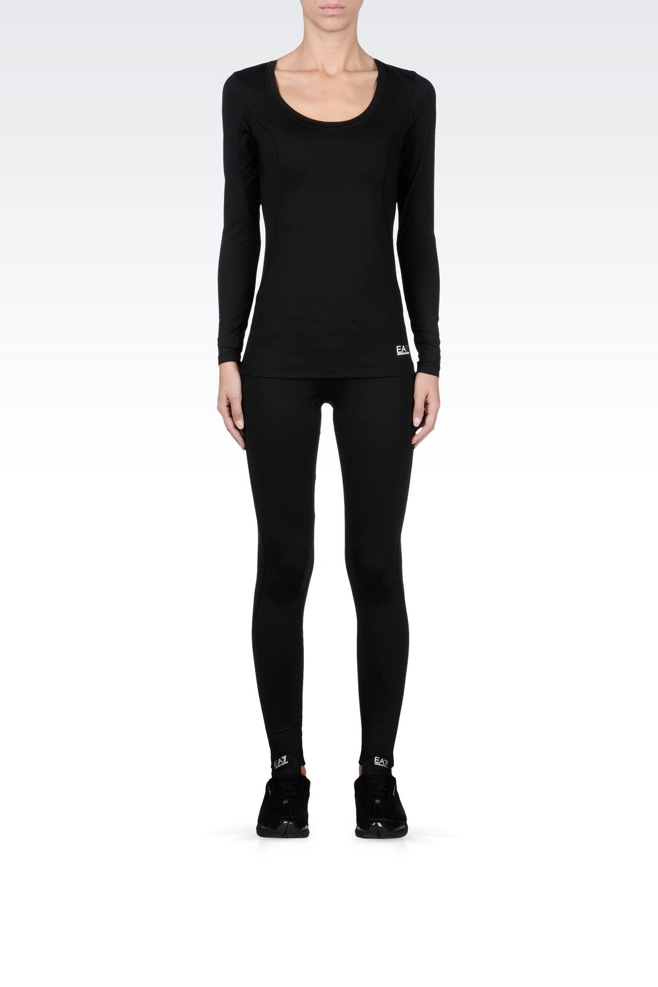T-shirts and sweatshirts: Long sleeved t-shirts Women by Armani - 0
