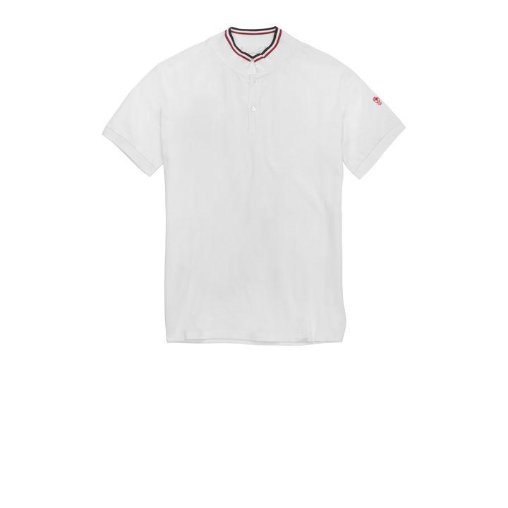 Alexander McQueen, Stripe Collar Piqué Cotton Skull Polo-Shirt