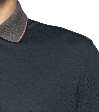 ERMENEGILDO ZEGNA: Long-sleeved Polo Blue - 37485833AL