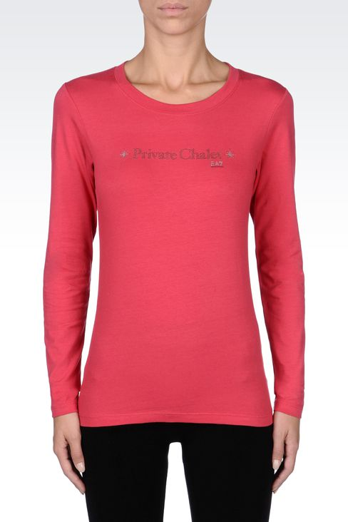 T-shirts and sweatshirts: Long sleeved t-shirts Women by Armani - 2