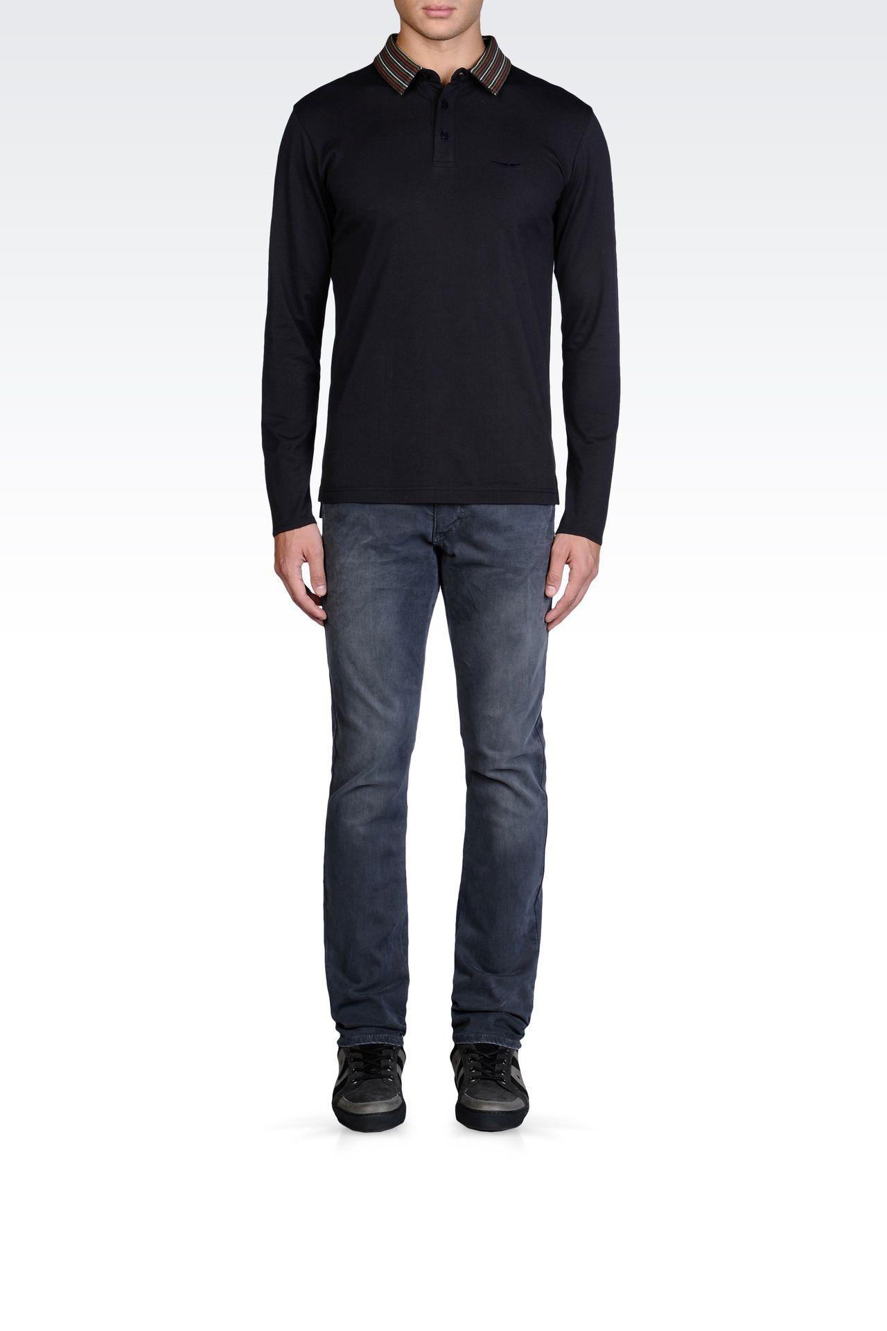 男士 长袖polo衫 | armani