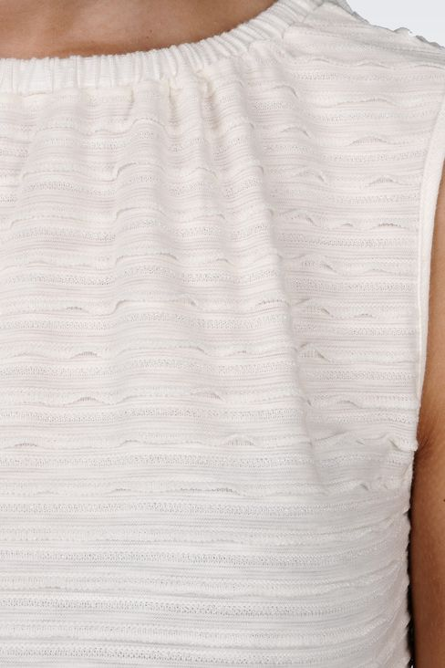 VISCOSE TOP WITH LUREX EMBROIDERY: Sleeveless tops Women by Armani - 4