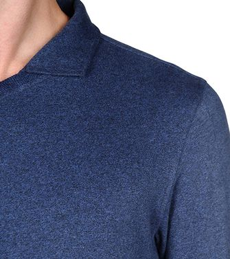 ZEGNA SPORT: Long-sleeved Polo Slate blue - 37492972TW