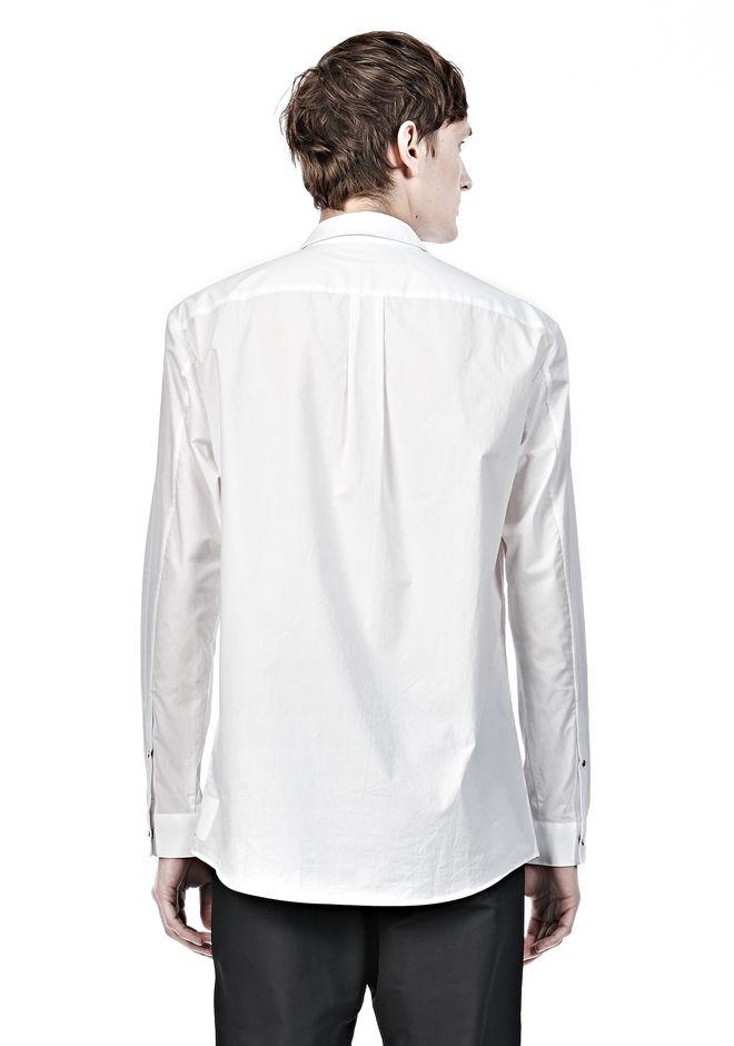 Classic collar shirt with hidden snap closure shirt for Hidden button down collar shirts
