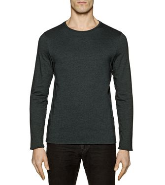 ZZEGNA: Long sleeve t-shirt Steel grey - 37493597XO