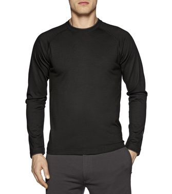 ZEGNA SPORT: Techmerino T-shirt  Black - Steel grey - Blue - 37499686OX