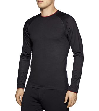 ZEGNA SPORT: Techmerino T-shirt  Black - Blue - Steel grey - 37499686TR