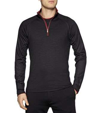 ZEGNA SPORT: T-shirt Techmerino Anthracite - 37499687HM