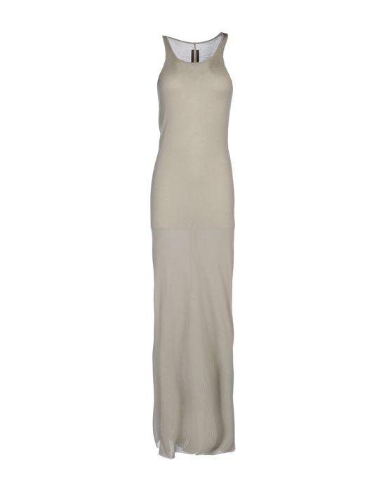 Фото RICK OWENS Длинное платье. Купить с доставкой