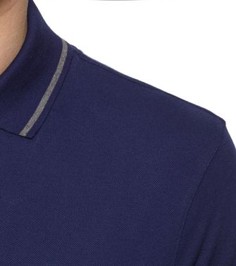 ZEGNA SPORT: Short-sleeved Polo Slate blue - 37516242HB