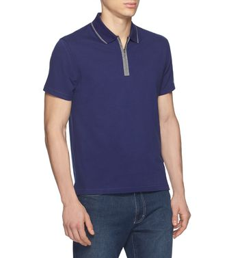 ZEGNA SPORT: Short-sleeved Polo Purple - Blue - Brown - 37516242HB