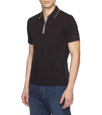 ZEGNA SPORT: Short-sleeved Polo Maroon - Blue - 37516244DI