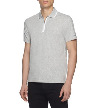 ZEGNA SPORT: Short-sleeved Polo Blue - Steel grey - 37516245CB