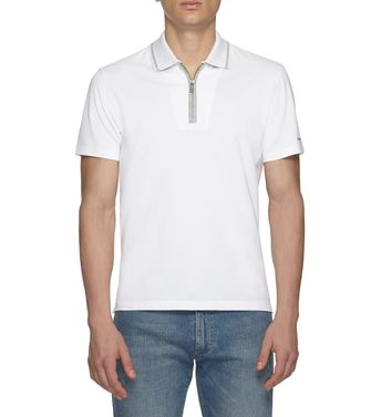 ZEGNA SPORT: Short-sleeved Polo Blue - Steel grey - 37516246DP
