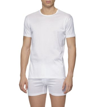 ERMENEGILDO ZEGNA: T-Shirt Girocollo Bianco - 37516288UP