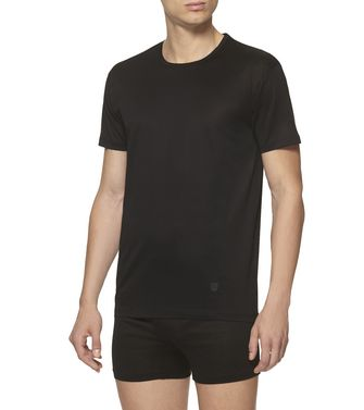 ERMENEGILDO ZEGNA: Crewneck T-Shirt Black - 37516422GX
