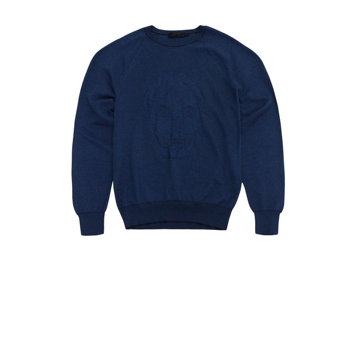 Alexander McQueen, Skull Bi-Colour Knit Jumper