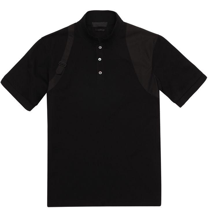 Alexander McQueen, Piqué Cotton Harness Polo-Shirt
