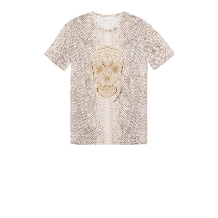Alexander McQueen, Python Print Skull T-Shirt