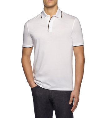 ERMENEGILDO ZEGNA: Short-sleeved Polo Blue - 37517794VL
