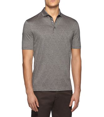 ERMENEGILDO ZEGNA: Short-sleeved Polo Grey - 37517911SQ