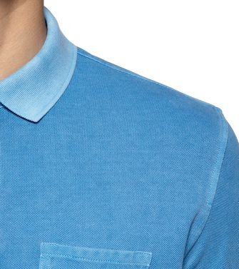 ZEGNA SPORT: Short-sleeved Polo Azure - 37517917EV