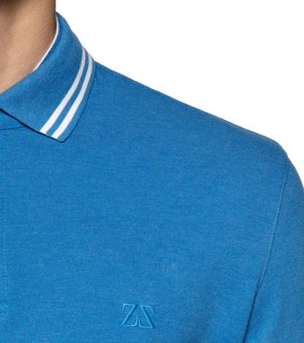 ZEGNA SPORT: Short-sleeved Polo Azure - 37524010SV