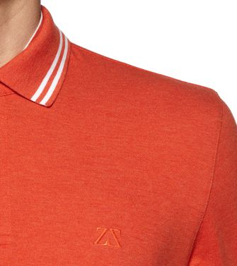 ZEGNA SPORT: Short-sleeved Polo Orange - 37524012OW